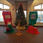 Room set up at the Clare of Assisi House Holiday Brunch. An annual fundraiser event.